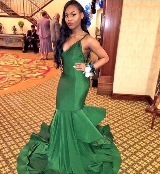 dress ball dress prom gown prom dress green 2016 mermaid tail