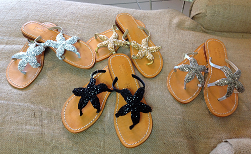 Beaded Starfish Sandal at Bungalow Road in Avon-by-the-Sea, NJ