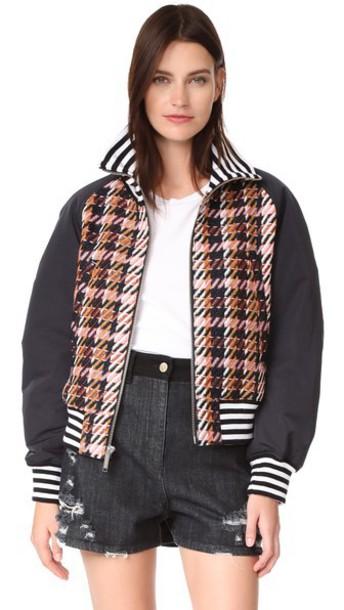 Public School jacket tweed jacket school jacket varsity jacket joggers
