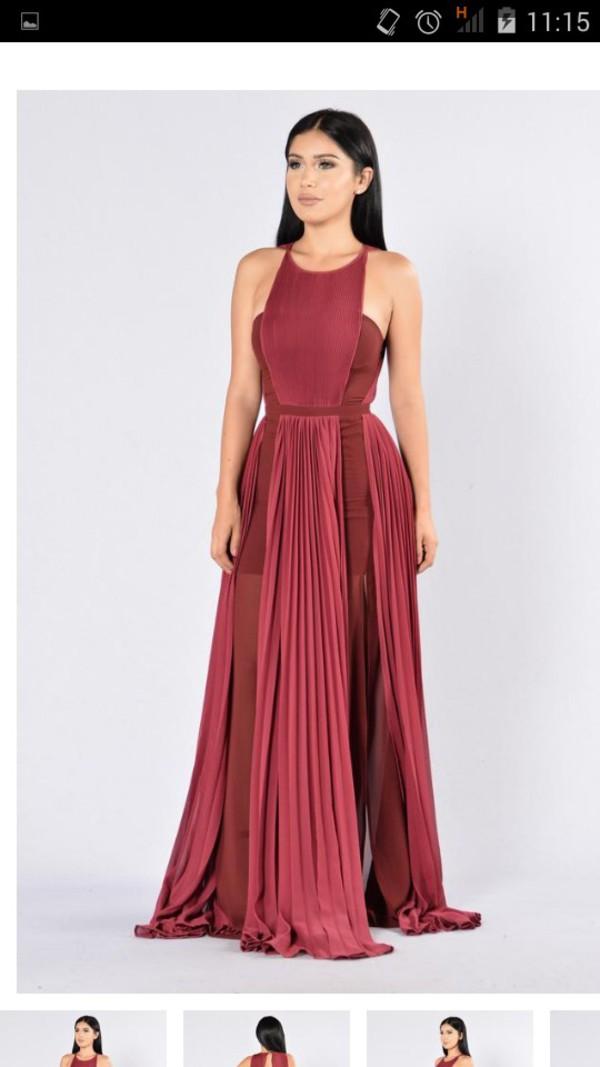 Khaleesi Dress Wine Fashion Nova