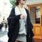 Vintage irregular hem loose fitting long sleeve cardigan for women_19.99