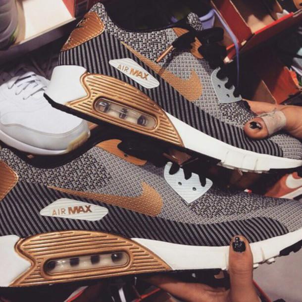 shoes air max nike air style black shoe nike shoes gold shoes black shoes nike air max nike air max 90 gold white air max nike sport nike sport shoes