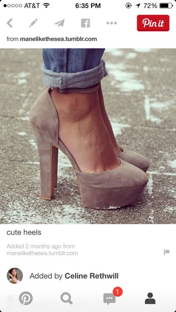 shoes taupe heels