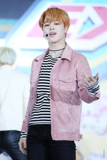 jacket pink park jimin bts kpop clothes bts jimin k-pop idol