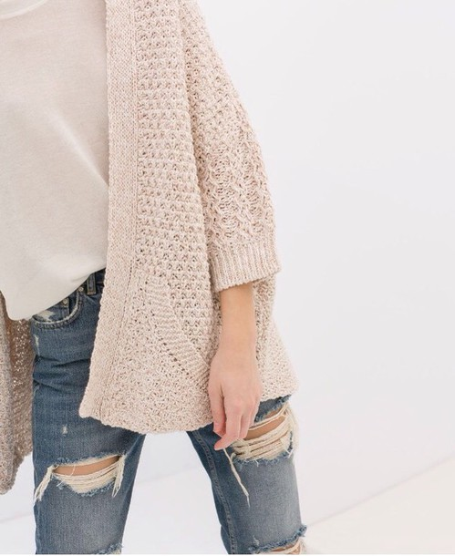 cardigan knitted cardigan white sweater casual