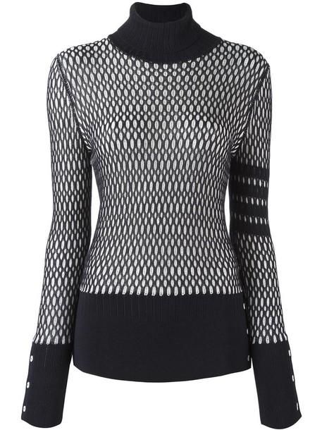 Thom Browne jumper women cotton blue sweater