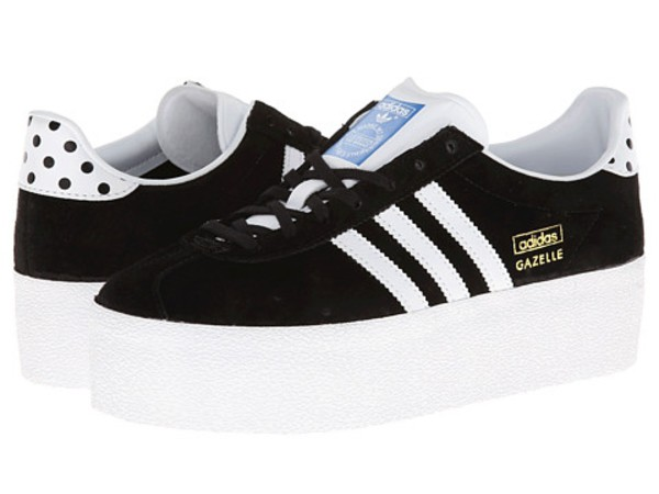 shoes awsome black and white platform sneakers