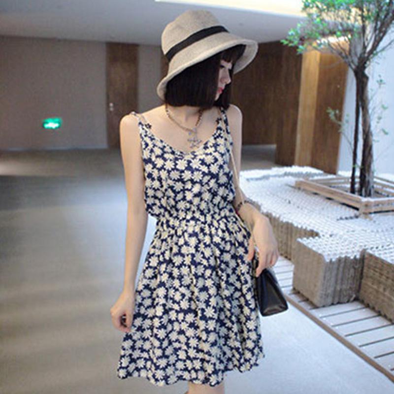 2014 outono mulheres novas vestido vestido cintura margaridas frescas senhoras bonito vestido de algodão marca cor h6643 roupas femininas em Vestidos de Roupas & acessórios no AliExpress.com | Alibaba Group