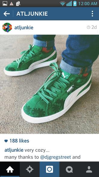 shoes green shoes puma puma running shoes