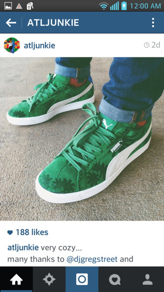 shoes green shoes puma puma running shoes