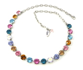 jewels,siggy,swarovski,rainbow crystal necklace,multicolor,bling,gifts for her,siggy necklace,siggy jewelry,affordable