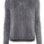 Black Long Sleeve Metallic Yoke Zipper Sweater - Sheinside.com