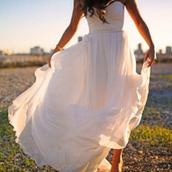 dress,maxi dress,white dress,long dress,mousseline,princess,bustier dress,wedding dress