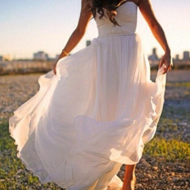 dress maxi dress white dress long dress mousseline princess bustier dress wedding dress
