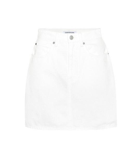 Calvin Klein Jeans Denim miniskirt in white