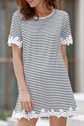 dress casual basic summer spring stripes fashion style trendy dressfo striped dress