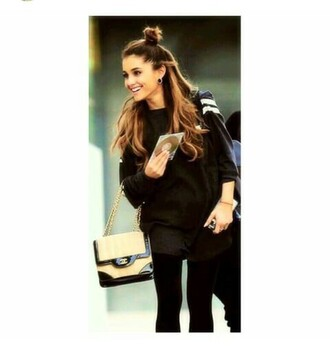 sweater ariana grande black sweater
