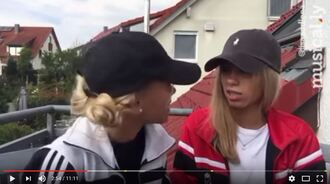 coat lisa and lena red black white hat