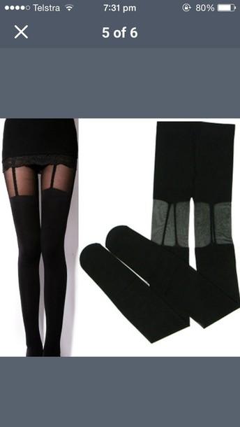 tights socks black panty hose