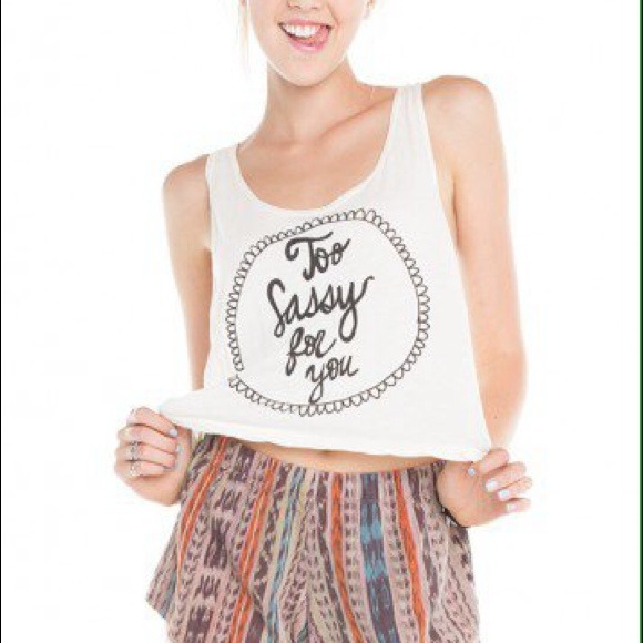 Brandy Melville - Brandy Melville Too Sassy For You Crop Tank from Alodia's closet on Poshmark
