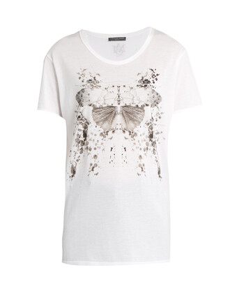 t-shirt shirt butterfly cotton print top