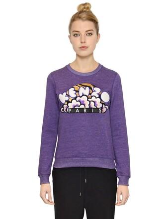 sweatshirt cotton purple sweater