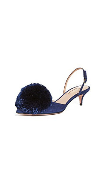 Aquazzura pumps navy shoes