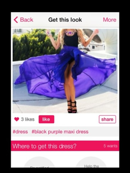 dress long dress chiffon prom dress long prom dress maxi purple dress evening dress black and purple dress flow dress mullet dress high low dress