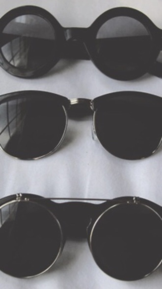 sunglasses black round round sunglasses tumblr modern grunge black clothes aesthetic