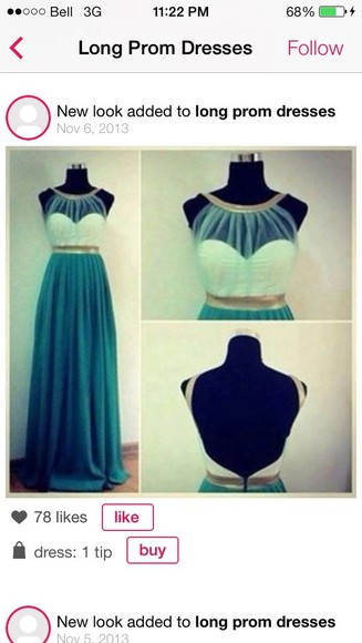 dress teal long prom dresses