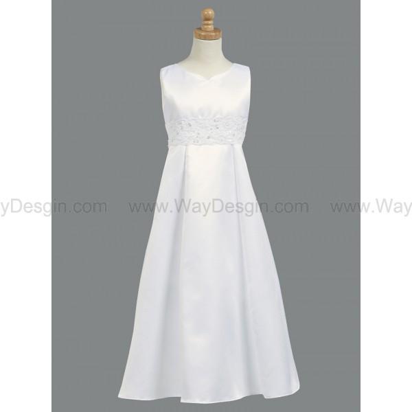 a-line dress corded white flower girl dress flower girl dresses