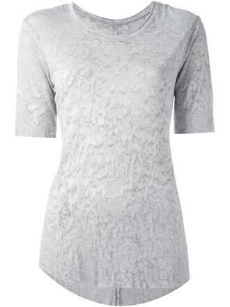t-shirt shirt tie dye print grey top
