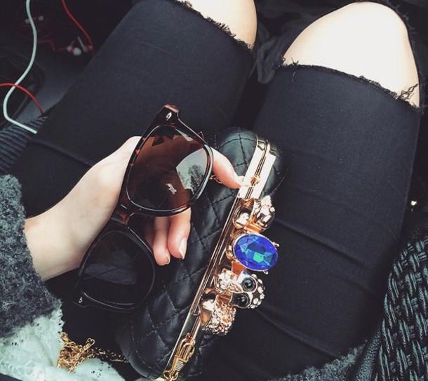 bag black clutch