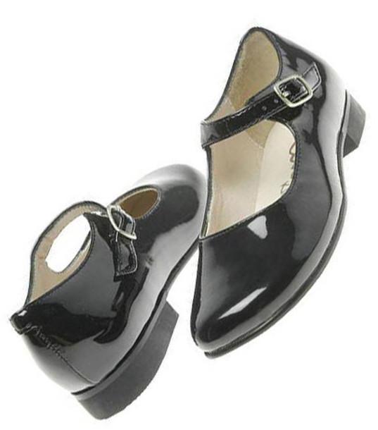 Shoes Cute Black Doll Heel Back To School Socks Shiny Or Matte Buckles Little Sweet ...