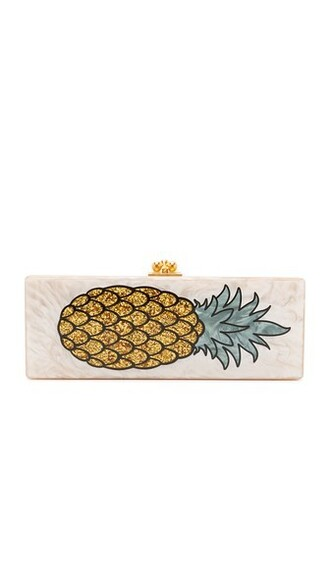 pineapple clutch nude bag