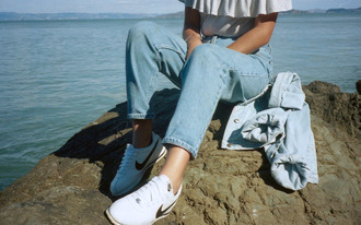 shoes nike adidas trainers 90s style 80s style hipster pale aesthetic summer