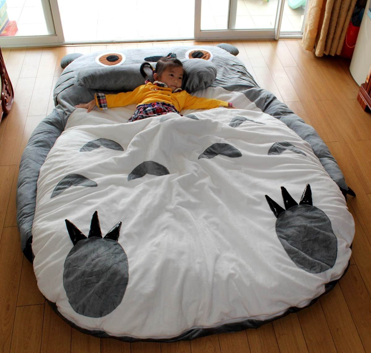 amazoncom totoro double bed totoro bed totoro sleeping bag totoro design bed large size 23x175m childrens bed frames - Bed Frames Amazon