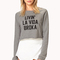 Street-chic cropped sweatshirt | forever21 - 2000126294