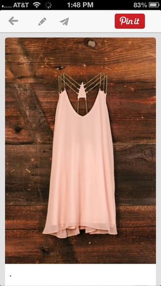 dress light pink pink pink dress summer dress blouse pink and gold shirt peach t-shirt open back summer top tunic chain summertime pink top summer top dress party dresses pink dress casual short hipster shirt tank top chain back cute dress light pink dress gold chain
