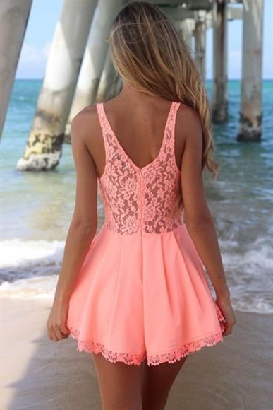 sea beach sweet perfect girl coral jumper