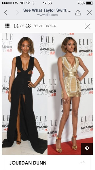 dress gold black white model shoes heels sandals amazing beautiful maxi long jourdan dunn