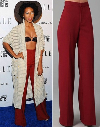 pants red pants solange knowles