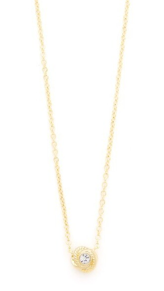 clear infinity necklace gold jewels