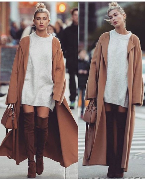 Dress Sweater Dress Chocolate Brown Boots Suede Boots Hailey