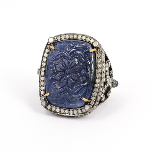 jewels blue sapphire ring carved ring gemco jewelry gemco