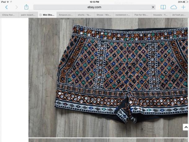shorts beaded zara shorts