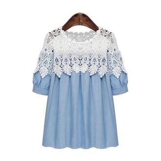 blouse shirt top lace disheefashion