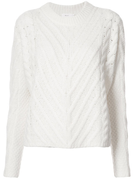 A.L.C. sweater women white silk wool knit