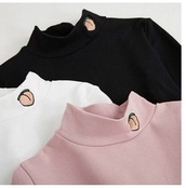 blouse,girly,black and white,white,pink,peach