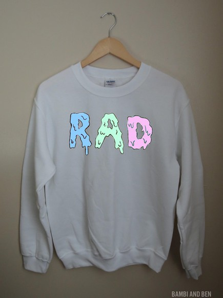 top clothes crewneck sweater brandy rad etsy brandy melville pizza denim radio acacia clark acacia brinley #acacia clark hairstyles hair bow brandy melville usa rainbow